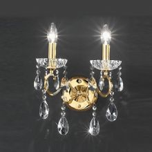 Polished Brass/Gold Crystal/Teardrop Wall Lights